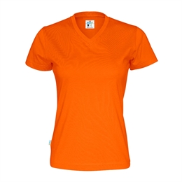 Cottover, T-Shirt V-Hals, Dame, Orange
