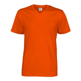 Cottover, T-Shirt V-Hals, Herre, Orange