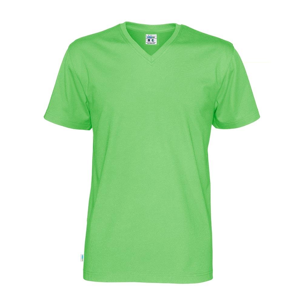 Cottover, T Shirt V Hals, Herre, Grøn