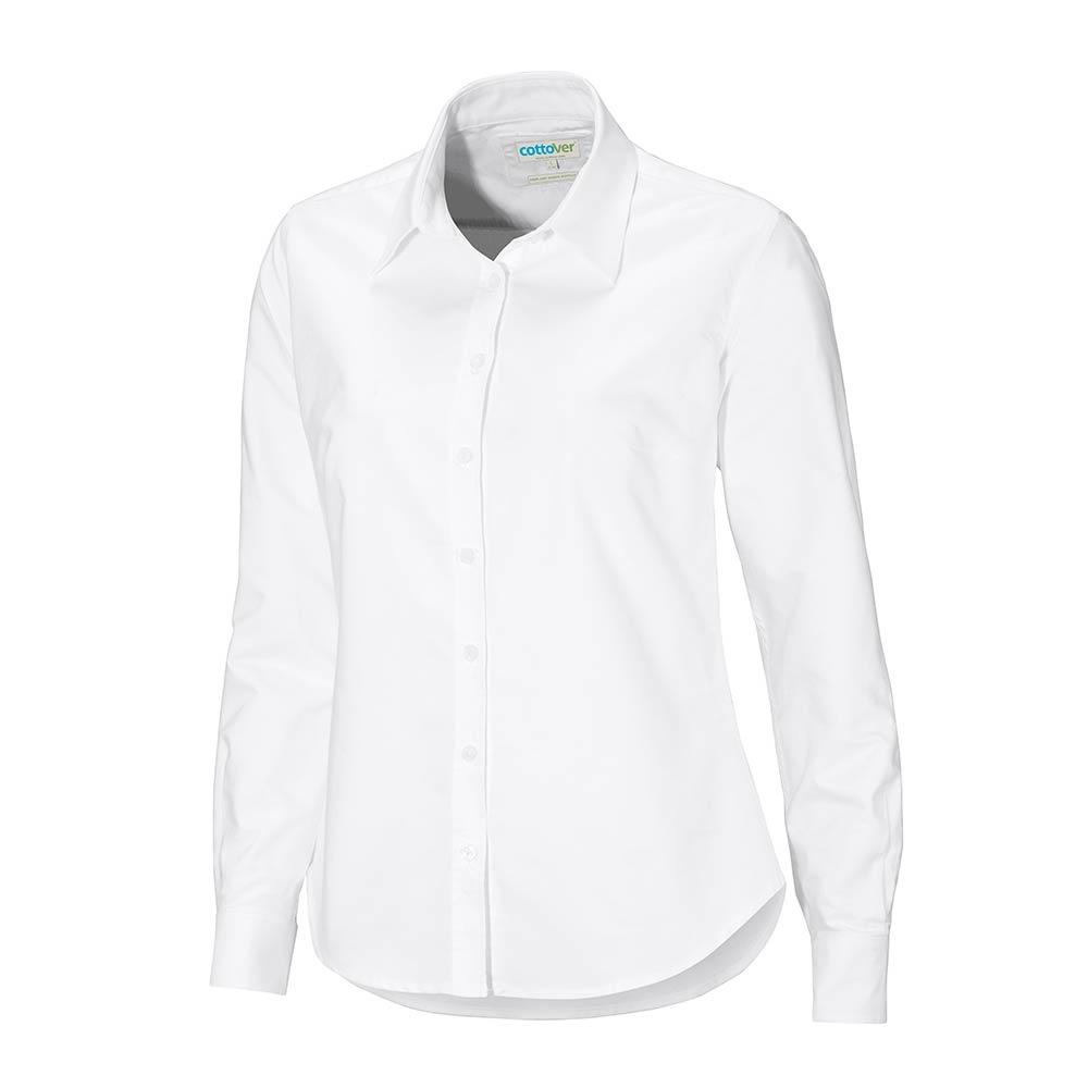 5cd68a11281 Cottover, Oxford Skjorte, Dame, Hvid, Fairtrade