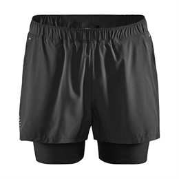 Craft, Adv Essence 2-In-1 Stretch Shorts, Sort, Herre