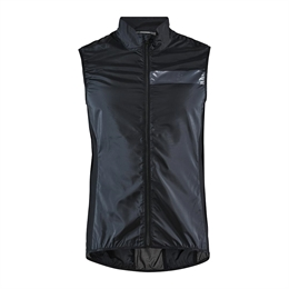 Craft, Essence Light Wind Cykelvest, Sort, Herre