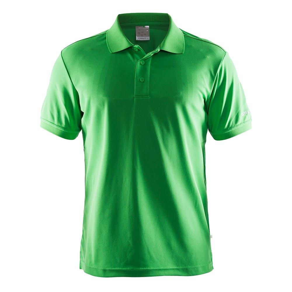Polo Shirt Pique, Herre, Grøn
