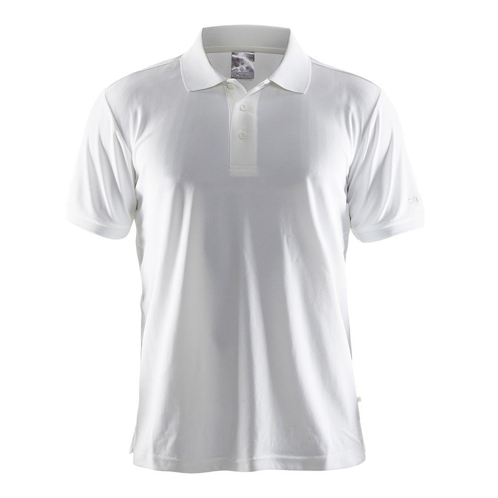 Polo Shirt Pique, Herre, Hvid