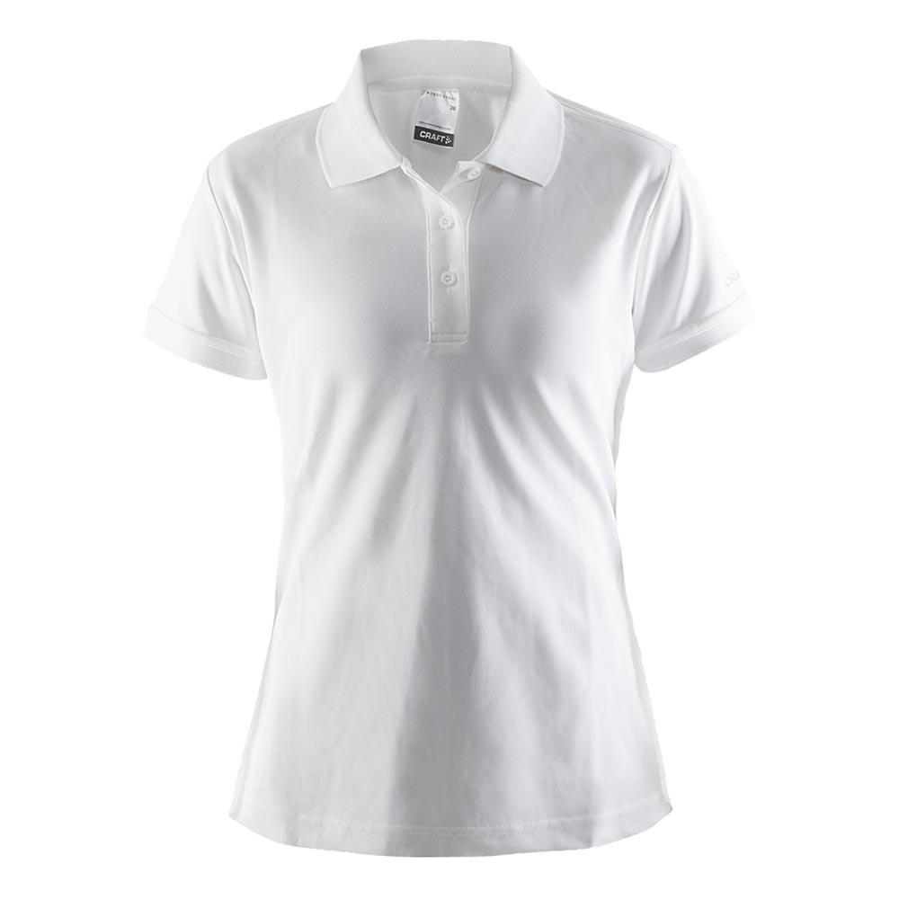 Polo Shirt Pique, Dame, Hvid