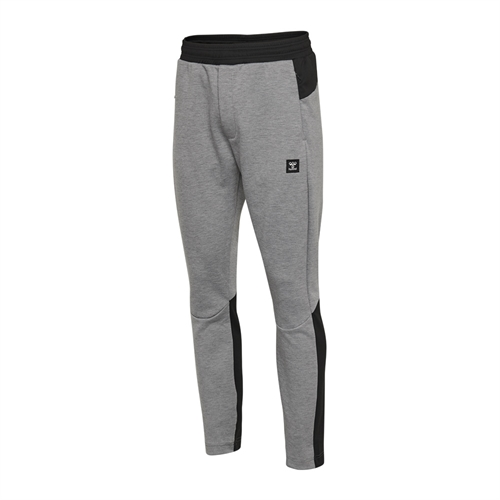 hummel, Tropper tapered pants, grey melange, herre