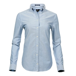 Tee Jays, Womens Perfect Oxford Shirt, Light Blue, Dame