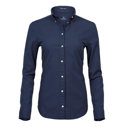 Tee Jays, Womens Perfect Oxford Shirt, Navy, Dame