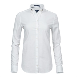 Tee Jays, Womens Perfect Oxford Shirt, Hvid, Dame