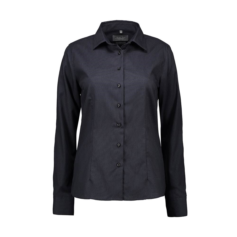 ae4f07bc Seven Seas, Dobby Royal Oxford Skjorte, Modern Fit, Dame, Koks Grå ...