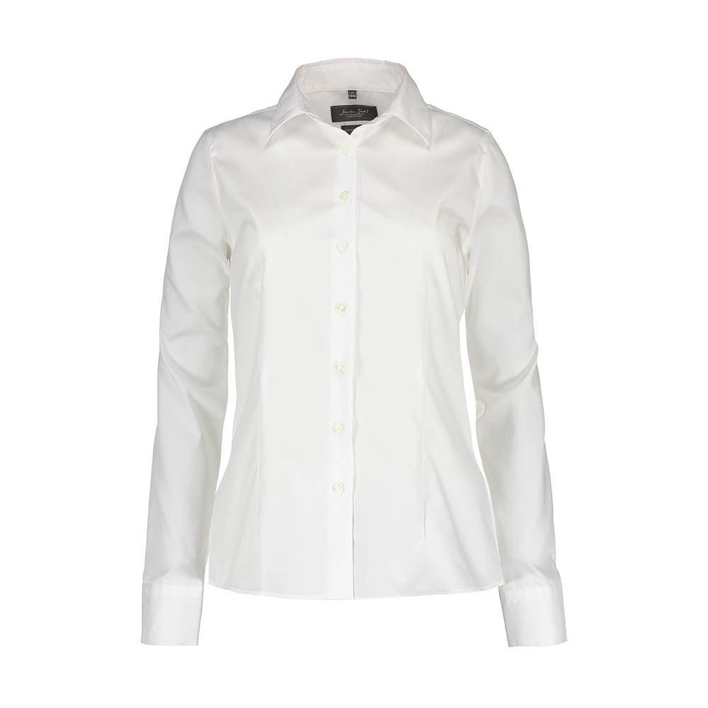 88ad475e Seven Seas, Fine Twill, Skjorte, Modern Fit, Dame, Hvid - b conzept