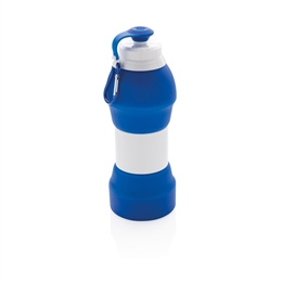 Foldbar silikone sports flaske, 580 ml.